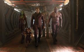 Picture Zoe Saldana, Marvel, Dave Batista, Marvel, Gamora, Groot, The old Lord, Gamora, Rocket raccoon, Batista, …