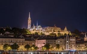 Picture night, lights, Hungary, Budapest, Budapest