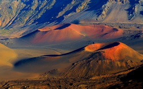 Picture volcanoes, crater, Hawaii, Maui, Haleakala national Park