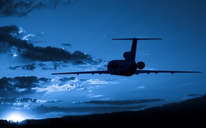 Picture sky, aviation, transportation, airplain