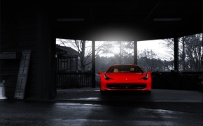 Picture Ferrari, red, front, 458 italia