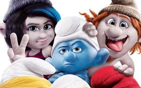 Picture Paris, family, dwarves, Paris, gnomes, The Smurfs 2, The Smurfs 2