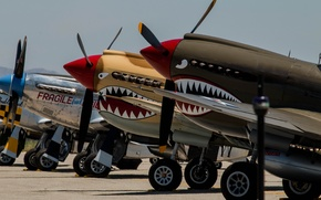 Picture war, fighters, the airfield, period, world, Second