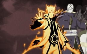 Picture Naruto, Toby, Madara, Upholstered, chakra nine-tailed