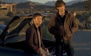 Picture Sam, supernatural, chevrolet impala, Dean, guys, Winchester, supernatural, sam, dean