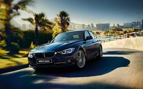 Wallpaper blue, Sedan, 3-Series, sedan, F30, BMW, BMW