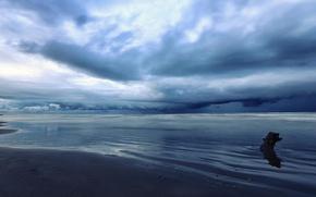 Picture sea, clouds, Iran, Mazandaran