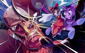 Picture art, girl, pony, Shingeki no Kyojin