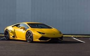 Picture Lamborghini, Yellow, Huracan