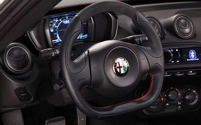 Picture red, the wheel, salon, launch edition, leather, Alfa Romeo 4c