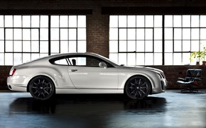 Picture white, room, wall, Windows, chair, bricks, continental, bentley, Bentley, black rims, continental gt, supersports