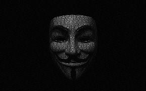 Picture letters, mask, v for vendetta, guy Fawkes, in vendetta
