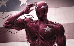 Picture red, star, mucus, spider-man, spider man, carnage, carnage
