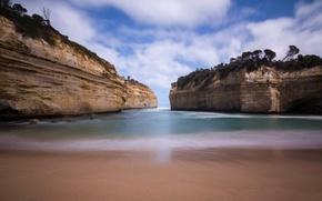 Picture sea, the sky, rocks, Bay