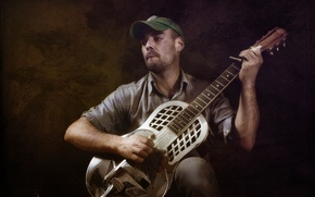 Picture music, guitar, Rambling Rob Young