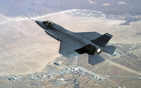 Picture earth, speed, Fighter, flight, F-35