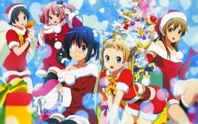 Picture Girls, New year, Tree, Chuunibyou Demo Koi ga Shitai!, To Rik Takanashi, Eccentricity of love …