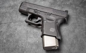 Wallpaper weapons, Glock 26, background, gun