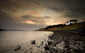 Wallpaper sea, stones, shore, Scotland