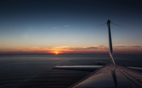Picture sunset, the plane, Cessna