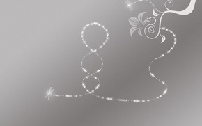 Wallpaper minimalism, Firefly, pattern, grey