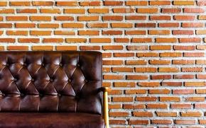 Wallpaper Armchair, bricks, wall