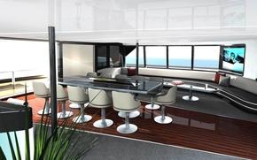 Picture design, style, interior, yacht, salon, Design, Suite, Yacht, Salon, 40m Porsche, Catamaran, Main
