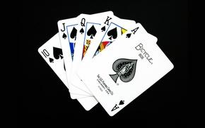 Wallpaper card, the suit, a Royal flush, poker