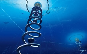 Picture the city, the project, Shimizu Corporation, spiral housing under the sea, Japanese firm plans ocean …