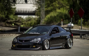 Picture turbo, wheels, honda, black, japan, jdm, tuning, low, acura, stance, integra, rsx, dapper, type s