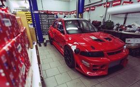 Picture garage, mitsubishi, lancer, evolution, evo, Lancer, Mitsubishi, Evo