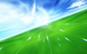 Picture field, the sky, Flight