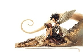 Picture dragon, tale, art, friendship, book, fantasy, fake