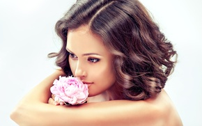 Picture Girls, flower, face