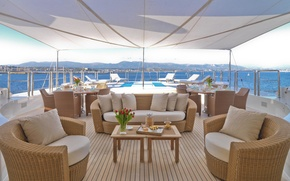 Picture design, style, furniture, interior, yacht, deck, Suite, super mega luxury yacht NATITA