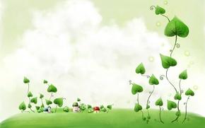 Wallpaper Plant, home, figure, leaves