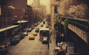 Picture machine, the city, street, building, USA, America, USA, New York City, new York