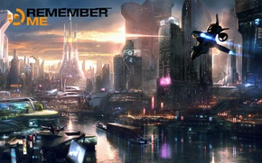 Picture capcom, remember me, Neo-Paris, Adrift, cyberpunk, the city