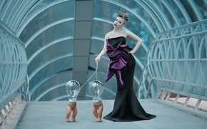Picture girl, doll, light bulb, Science Fiction Fashion