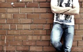 Picture brick, jeans, fashion, photoset