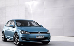 Picture machine, volkswagen, Golf, blue, golf, Volkswagen