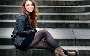 Picture look, smile, legs, Weekly Imogen, London photo-shoot