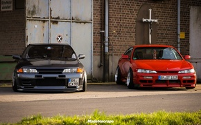 Picture nissan, turbo, red, wheels, skyline, japan, jdm, tuning, silvia, gtr, front, face, racing, 200sx, s14, …