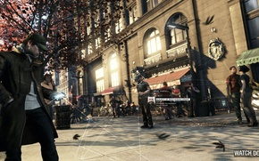 Picture street, Chicago, Ubisoft Montreal, Watchdogs, Aiden Pearce, watch dogs