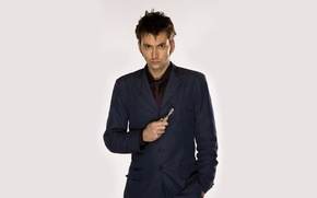 Picture look, background, costume, actor, male, Doctor Who, Doctor Who, BBC, David Tennant, David Tennant, sonic …