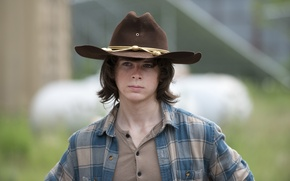 Wallpaper The walking dead, Carl, Chandler Riggs, The Walking Dead