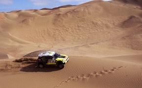 Picture Sand, Mini, Sport, Race, Mini Cooper, Dakar, SUV, Rally, Mini, Side view, 2014, Dune, X-raid, ...
