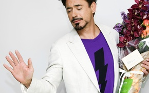 Picture flowers, flowers, note, Robert Downey Jr, orchid, actor, note, actor, orchids, Robert Downey Jr.
