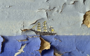 Picture wall, Wallpaper, ship