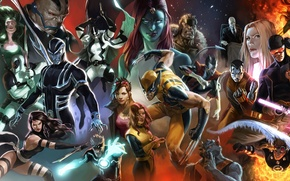 Picture Mystic, Wolverine, Storm, Rogue, Magneto, Professor X, Beast, Colossus, Iceman, Shadowcat, Blink, Quicksilver, Warpath, Charles …